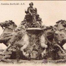 Postales: POSTAL LYON - FONTAINE BARTHOLDI. Lote 33384993