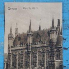Postales: ANTIGUA POSTAL DE BELGICA - BRUJAS - BRUGES - HOTEL DE VILLE - EDITION PRIAMOS - NO CIRCULADA - EN B. Lote 33369453
