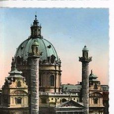 Postales: ANTIGUA FOTO POSTAL ILUMINADA DE AUSTRIA. WIEN KARLSKIRCHE 1961. Lote 33387441