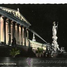 Postales: ANTIGUA FOTO POSTAL ILUMINADA DE AUSTRIA. WIEN, PARLAMENT 1961. Lote 33387478