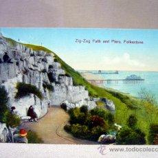 Postales: POSTAL, TARJETA POSTAL,ZIG ZAG PATH AND PIERS, ENGLAND, FOLKESTONE. Lote 33400585