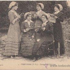Postales: PERPIGNAN (PYRÉNÉES ORIENTALES).- GROUPE DE CATALANES. (C.1920).. Lote 33437576