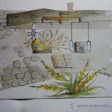 Postales: LOURDES- TABERNACLE IGLESIA SANTA BERNARDETTE -ACUARELA M.BIZET. Lote 33465852