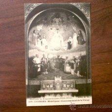 Postales: POSTAL LOURDES - CINQUANTENAIRE(1858-1908).MOSAÏQUES-COURONNEMENT DE LA VIERGE-1919-SELLO A.XIII. Lote 33502283