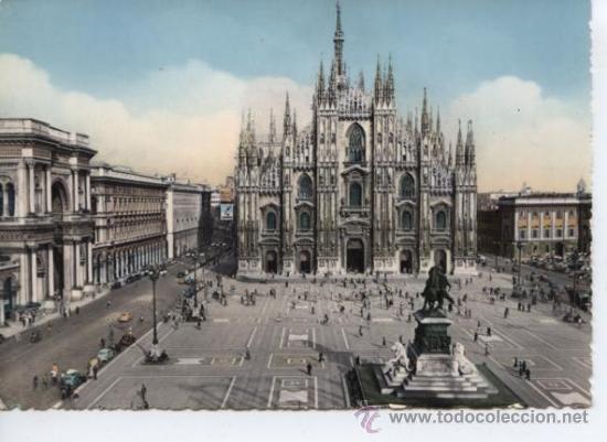 MILANO (LOMBARDIA). PIAZZA DEL DUOMO (Postales - Postales Extranjero - Europa)