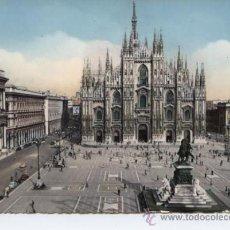 Postales: MILANO (LOMBARDIA). PIAZZA DEL DUOMO. Lote 33954260
