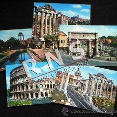Postales: LOTE 5 POSTALES DE ROMA - NO CIRCULADA - AÑOS 60 70 POSTAL KODAK EKTACHROME ITALIA COLISEO FORO. Lote 34272879