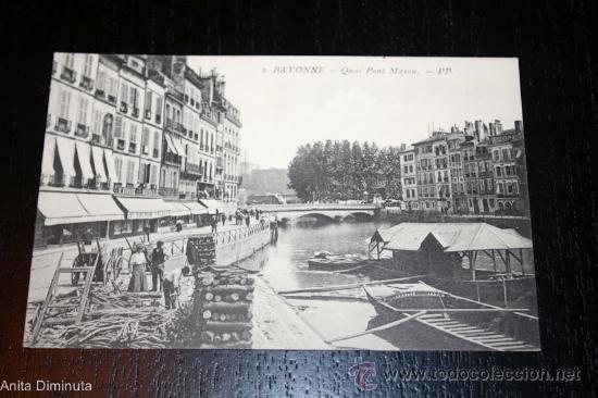 ANTIGUA POSTAL FRANCESA - BAYONNE - QUAI PONT MAYOU - PP (Postales - Postales Extranjero - Europa)