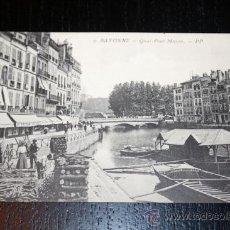 Postales: ANTIGUA POSTAL FRANCESA - BAYONNE - QUAI PONT MAYOU - PP . Lote 34307144