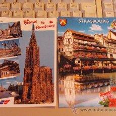 Postales: LOTE 2 POSTALES ESTRASBURGO ALSACIA, SIN CIRCULAR. Lote 34410379