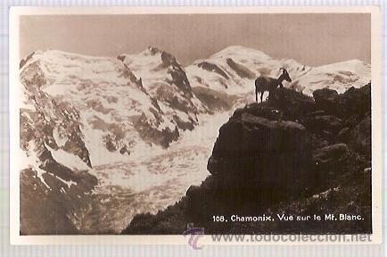 ANTIGUA POSTAL 108 CHAMONIX VUE SUR LE MT BLANC (Postales - Postales Extranjero - Europa)