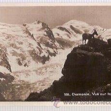 Postales: ANTIGUA POSTAL 108 CHAMONIX VUE SUR LE MT BLANC. Lote 34488414
