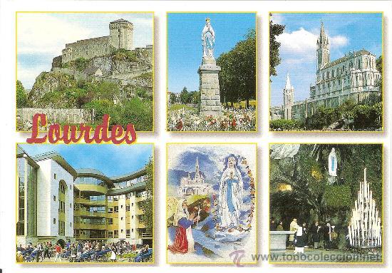 LOURDES, VARIAS VISTAS - EDIT. A. DOUCET - SIN CIRCULAR (Postales - Postales Extranjero - Europa)