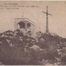 Postales: LES PYRÉNÉES.- LOURDES.- SOMMET DU PIC DU JER (ALT. 1.000 M.). LA CROIX ET L'OBSERVATOIRE. (C.1925).. Lote 35421904