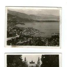 Postales: MONTECARLO 2 POSTALES ANTIGUAS FOTOGRAFICAS PEQUEÑO FORMATO - DIFERENTES VISTAS -. Lote 35464467