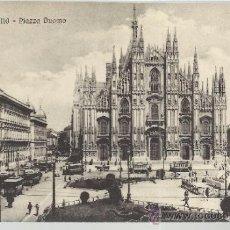 Postales: ITALIA MILANO PIAZZA DUOMO SIN ESCRIBIR. Lote 35480861