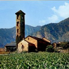 Postales: SANTA COLOMA ANDORRA - POSTAL ESGLÉSIA ROMÀNICA CLAVEROL. Lote 36324820