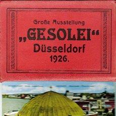 Postales: 12 POSTALES DÜSSELDORF. GRAN EXPOSICIÓN GESOLEI 1926.. Lote 35902802