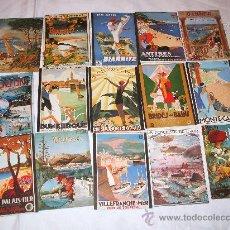 Postales: LOTE DE 15 POSTALES TURISTICAS DE FRANCIA DE LOS AÑOS 80. Lote 35907836