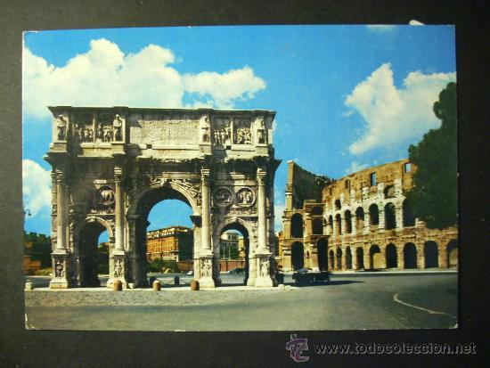 904 ITALIA ITALY LAZIO ROMA ROME POSTCARD POSTAL AÑOS 60 CIRCULADA - TENGO MAS POSTALES (Postales - Postales Extranjero - Europa)