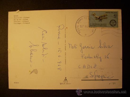 Postales: 904 ITALIA ITALY LAZIO ROMA ROME POSTCARD POSTAL AÑOS 60 CIRCULADA - TENGO MAS POSTALES - Foto 2 - 35967302