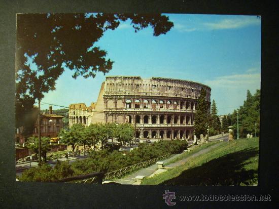 918 ITALIA ITALY LAZIO ROMA ROME COLISEO COLOSSEO POSTCARD POSTAL AÑOS 60/70 - TENGO MAS POSTALES (Postales - Postales Extranjero - Europa)
