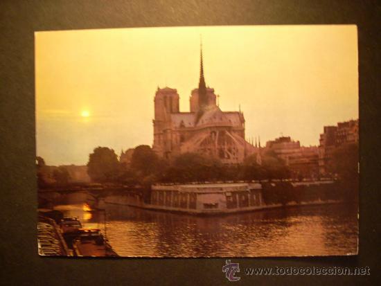 1100 FRANCIA FRANCE PARIS NOTRE DAME POSTCARD POSTAL AÑOS 60/70 - TENGO MAS POSTALES (Postales - Postales Extranjero - Europa)
