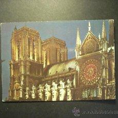 Postales: 1104 FRANCIA FRANCE PARIS CATEDRAL DE NOTRE DAME POSTCARD POSTAL AÑOS 60/70 - TENGO MAS POSTALES. Lote 35997825