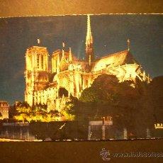 Postales: 1118 FRANCIA FRANCE PARIS NOTRE DAME ILLUMINEE POSTCARD POSTAL AÑOS 60 - TENGO MAS POSTALES. Lote 35998591