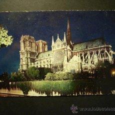 Postales: 1122 FRANCIA FRANCE PARIS NOTRE DAME ILLUMINEE POSTCARD POSTAL AÑOS 60 CIRCULADA TENGO MAS POSTALES. Lote 35998768