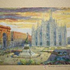 Postales: MILANO. PIAZZA DEL DUOMO.. Lote 36073712
