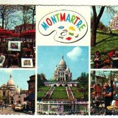 Postales: PARIS**MONTMARTRE***BASILIQUE DU SACRÉ-COEUR**CIRCULADA 1961. Lote 36375824