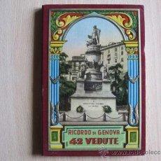 Postales: RICORDO DI GENOVA - 42 VEDUTE. Lote 36615687