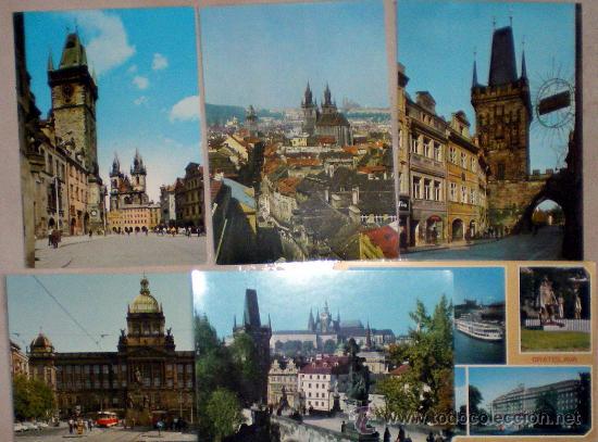 LOTE DE 6 POSTALES DE PRAGA-PRAHA Y BRATISLAVA (Postales - Postales Extranjero - Europa)