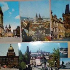 Postales: LOTE DE 6 POSTALES DE PRAGA-PRAHA Y BRATISLAVA. Lote 36647940