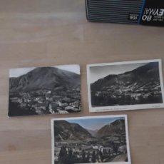 Postales: V. CLAVEROL TRES POSTALES ANDORRA AÑOS 40 50 MÁS CARTA DE HOSTAL VALIRA. Lote 36900715
