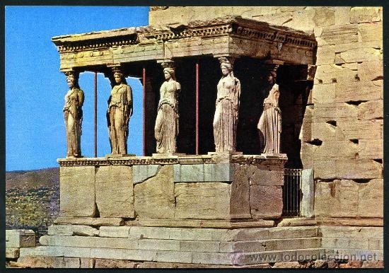POSTAL DE GRECIA ( LAS CARIATIDES ) (Postales - Postales Extranjero - Europa)