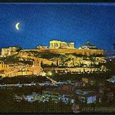 Postales: POSTAL DE GRECIA ( LA ACROPOLIS ILUMINADA ) . Lote 36823652