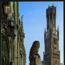 Postales: POSTAL DE BELGICA ( BRUGGE - SALON Y EL CAMPANARIO ) . Lote 36826267