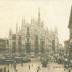 Postales: MILAN MILANO PLAZA PIAZZA DUOMO. Lote 36851832