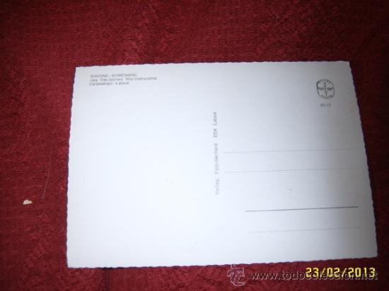 Postales: POSTAL TROQUELADA DEL MARINE-EHRENMAL.OSTSSEBAD-LABOE. - Foto 2 - 36908529