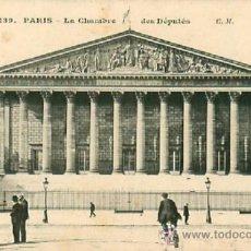 Postales: PARIS CHAMBRE DES DEPUTES. Lote 36911502