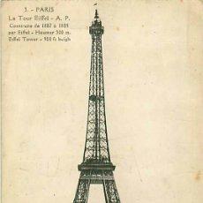 Postales: PARIS TOUR EIFFEL. Lote 36956748