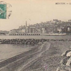 Postales: MENTON.- LA VIEILLE VILLE. FRANQUEADO EN MENTON EN 1909 ?. Lote 37175179