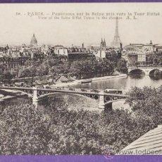 Postales: FRANCIA - PARIS - PANORAMICA - CIRCULADA - AÑOS 10 / 20. Lote 37244944