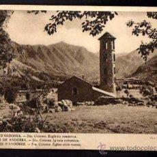 Postales: ANDORRA. SANTA COLOMA. V. CLAVEROL. NO CIRCULADA. Lote 37348148
