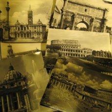 Postales: 10 POSTALES VISTAS DE ROMA. SIN CIRCULAR. 15 X 10 CM. Lote 37863259