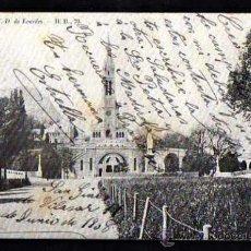 Postales: LOURDES. CIRCULADA 1908. Lote 38011941