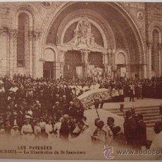 Postales: POSTAL DE LOURDES, LA BÉNÉDICTION DU ST-SACREMENT. Lote 38017182