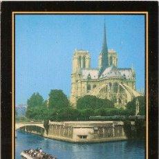Postales: PARIS (FRANCIA), VISTA NOTRE DAME DESDE EL SENA – CIRCULADA. Lote 38111939